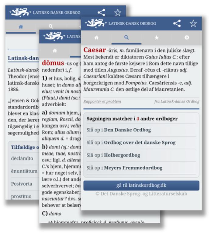 Latinsk-dansk Ordbog: Nu som app