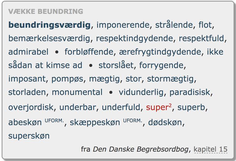 Forrygende eller skæppeskønt? Nyt i Den Danske Ordbog
