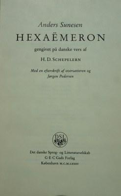 Andreae Sunonis filii Hexaëmeron 1